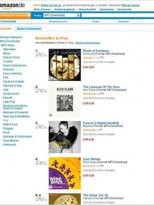 Amazon Bestseller Album in Pop JD Wood  JörgDewald World of emotions 2012