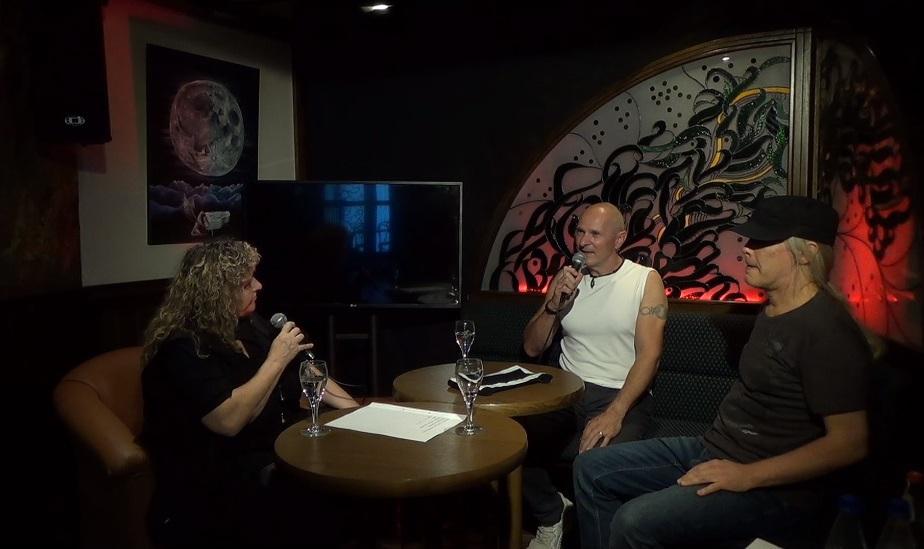 Jörg Dewald (JD Wood) und Andy Kirchner im Pegasus Bensheim im Interview