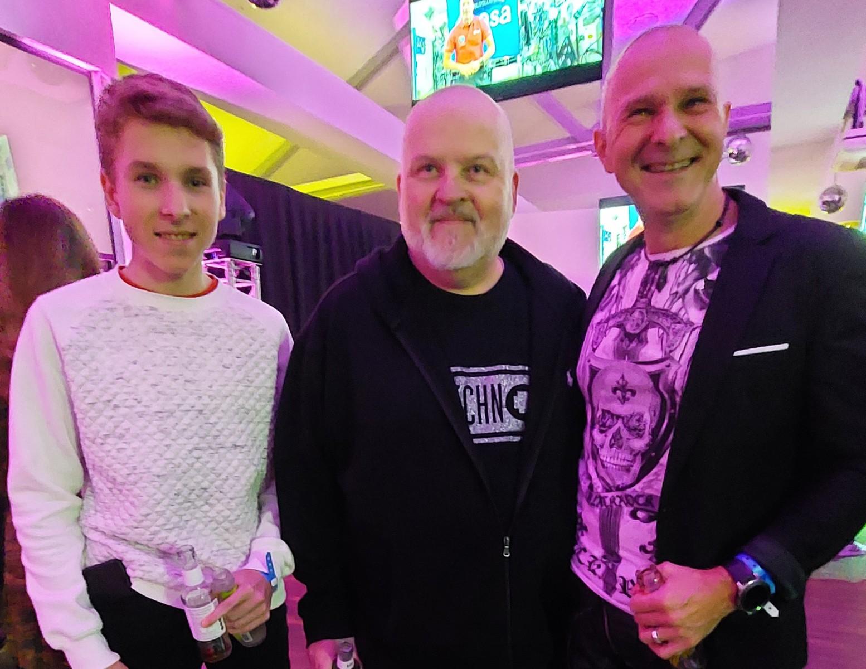Jörg Dewald / JD Wood mit Sohn Jan und DJ Talla 2XLC