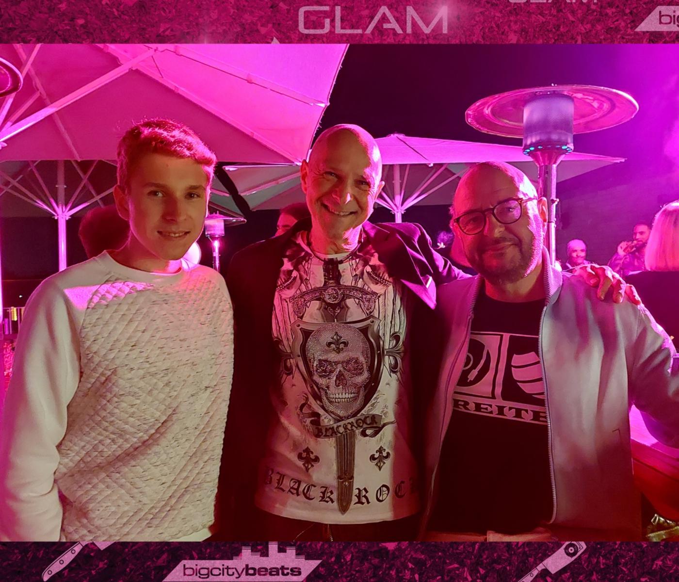 Jörg Dewald / JD Wood mit Sohn Jan und Bernd Breiter (CEO BigCityBeats)