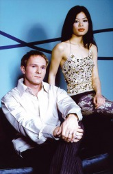 Jörg Dewald (JD Wood) mit Geigerin Vanessa Mae