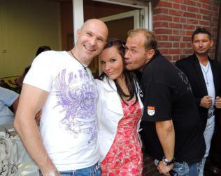 Jörg Dewald mit Willi Herren und Andrea Hoffmann