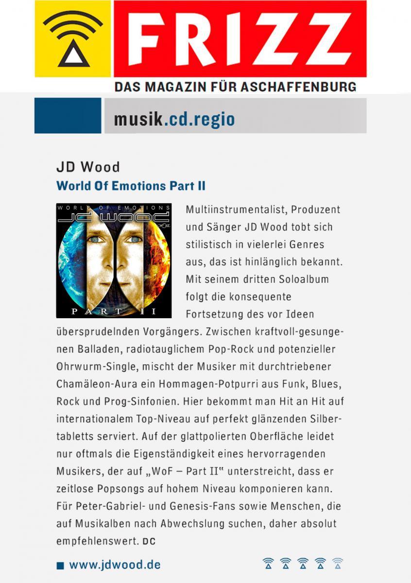 Frizz Magazin - Vorstellung Album JD Wood - World of Emotions Part II