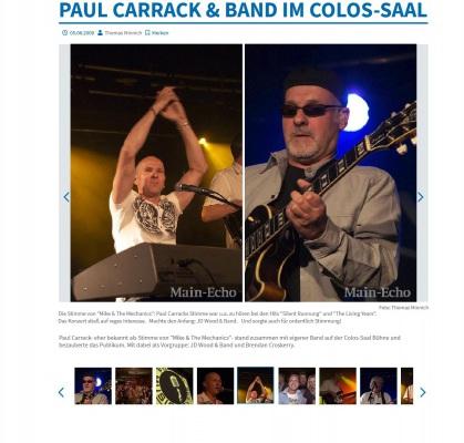 JD Wood / Jörg Dewald mit seiner Band als Support für Paul Carrack im Colos Saal Aschaffenburg 2009