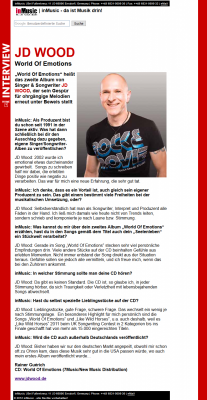 """inMusic Magazin Artikel über das Album von Jörg Dewald """"JD Wood - World of emotions"""""""