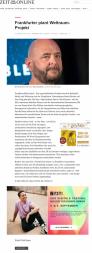 Pressemitteilung Zeit.de - Frankfurter-plant-Weltraum-Projekt