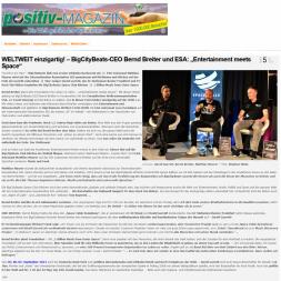 """WELTWEIT einzigartig - BigCityBeats-CEO-Bernd-Breiter-und-ESA-""""Entertainment-meets-Space..."""