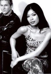 Jörg Dewald (JD Wood) mit der weltberühmten Geigerin Vanessa Mae